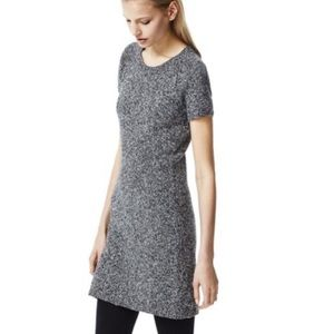 Theory Cecile Gray Marled Wool Sweater Dress